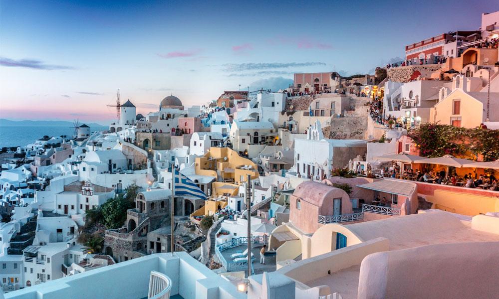 Santorini Grécia Morar na Europa viajar para a europa