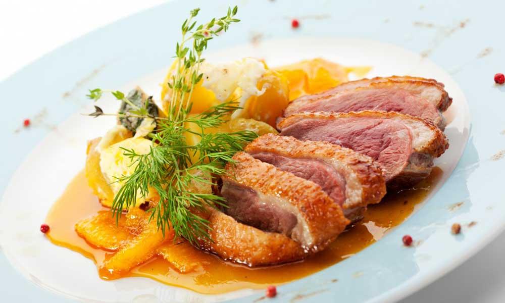 Canard à l'orange comida francesa