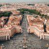Roma capital da Itália vaticano praça são pedro